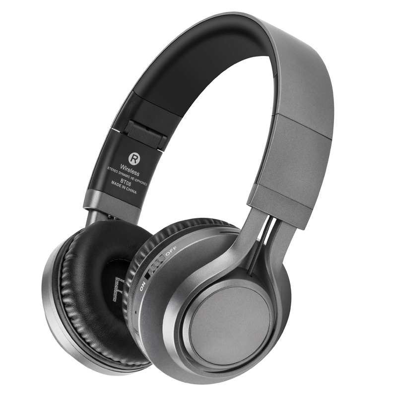 Picun BT-08 Bluetooth Headphones Stereo Wireless Headsets With Microphone Support TF Card FM Radio For Smartphone